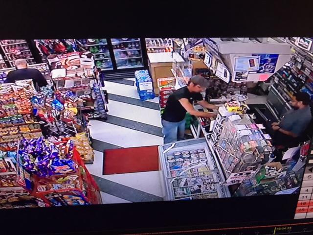 Sunoco convenience store owner Rocky Patel has released surveillance stills of Josh Stebbins, hoping it will help prompt someone to call police or give Asheville investigators a tip to arrest the suspect or suspects who killed him. (Photo credit: Rocky Patel)