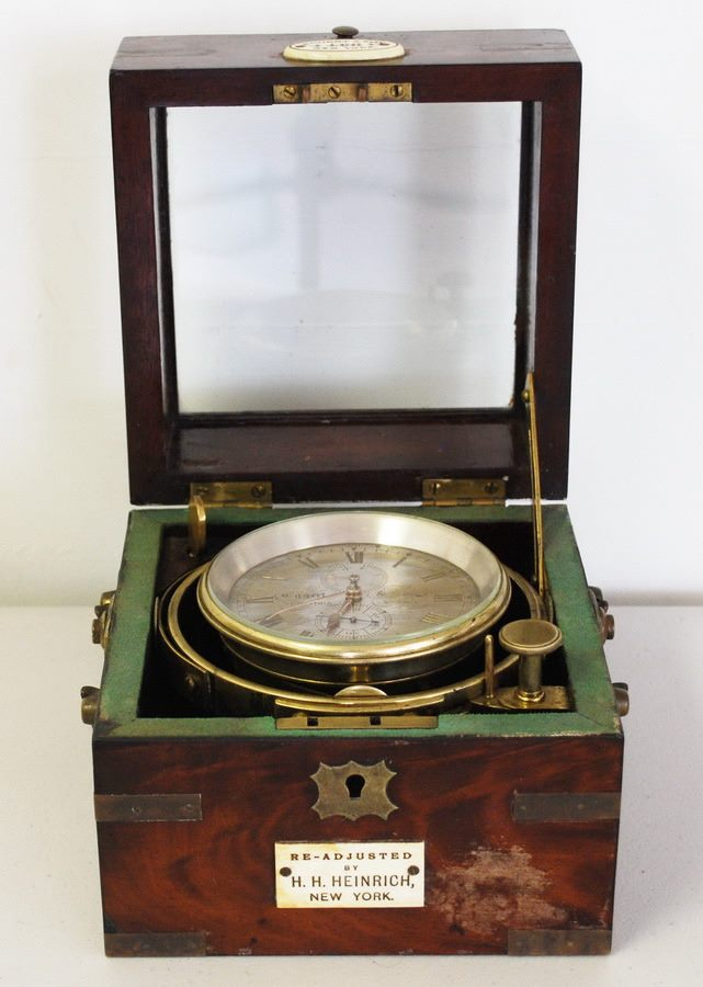 An 1856 Eggert &amp;amp; Son Ships Chronometer that sailed on ships during the Civil War.{&amp;nbsp;} It is one of the items he'll attempt to sell on &quot;Pawn Stars&quot; (Courtesy: Joe Stinson).<p></p>