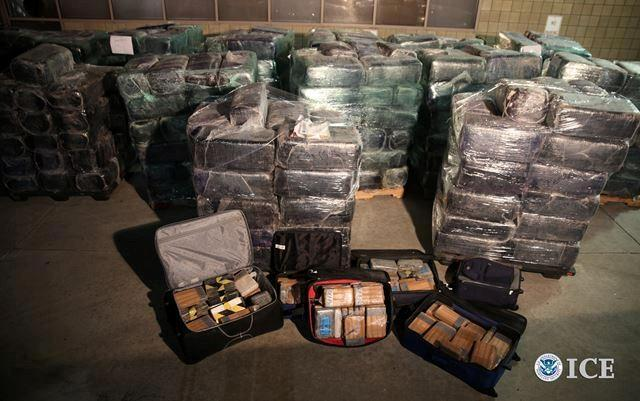 All together, agents seized 8 tons of marijuana and 325 pounds of cocaine.