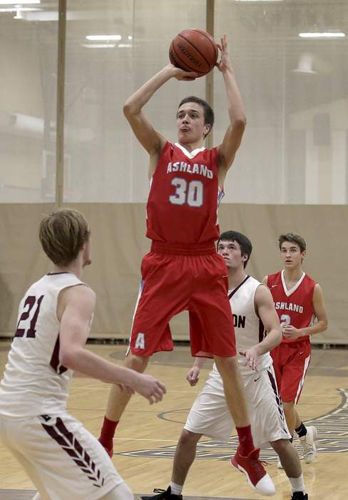 Second Round of the 2017 Christmas Classic at Cascade Christian High School, Ashland Boys' Varsity against Dayton High School. [ // PHOTOS BY: LARRY STAUTH JR]