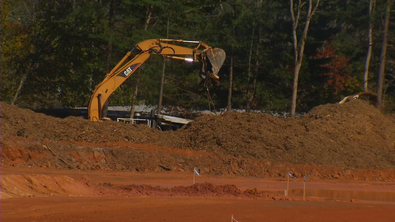 """I'm curious about what is going on with the clearing and construction on Hendersonville Road,"" an anonymous viewer wrote Ask 13. ""It's past the Airport Road intersection before you get the Enmarket gas station."" (Photo credit: WLOS staff)"