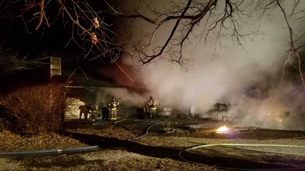 Sapulpa firefighters responded around 2 a.m. Wednesday to a house fire near Ridgeway and James. A neighbor who was up doing laundry called 911 after seeing flames coming from the house. (KTUL)