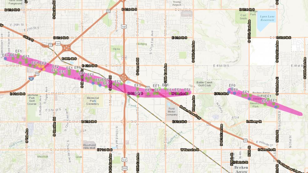 NWS details tornado paths through Tulsa, Broken Arrow, Oologah | KTUL
