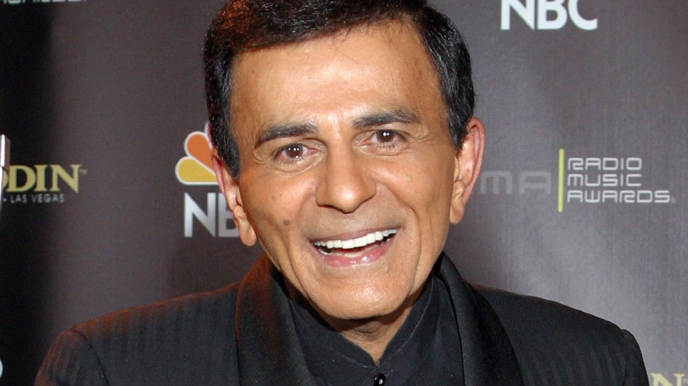 FILE - In this Oct. 27, 2003 file photo, Casey Kasem poses for photographers after receiving the Radio Icon award during The 2003 Radio Music Awards at the Aladdin Resort and Casino in Las Vegas. A Los Angeles judge appointed one of Kasem's daughters as his  temporary conservator on Monday May 12, 2014, after expressing concerns about the ailing radio personality's well being because he has been moved to a medical  facility outside the United States. A lawyer for Kasem's wife said he doesn't know where he is. (AP Photo/Eric Jamison, File)