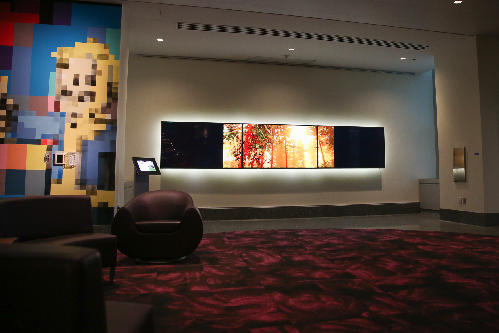 There are two installations of video game landscapes, where visitors can see how America inspires video game designers. (Amanda Andrade-Rhoades/DC Refined)