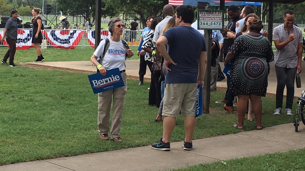 Those attending Sanders rally say Democratic primary generating interest