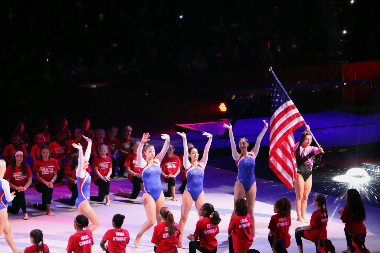 Simone Biles and squad flipped and tumbled across the stage at the Verizon Center for their second to last stop of the tour. (Jai Williams)