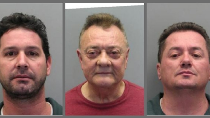 Police have arrested three men from Miami on March 8 for using a skimming device to steal customer credit and debit card information from pumps at a gas station in Falls Church, Virginia.  Pictured: Osvaldo Bello Villanuevo, Enrique F. Franco and Abrahan Noa (Fairfax County Police)