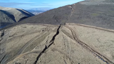 WATCH: Officials keeping wary eye on slow-motion landslide in Yakima Co.
