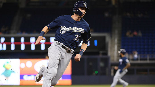 Yelich led the NL in slugging percentage and on-base percentage.