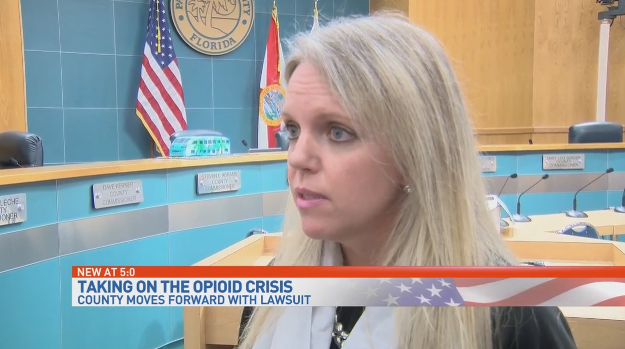 Palm Beach County moving forward with suit against 'Big Pharma'. (WPEC)
