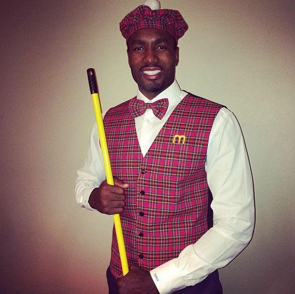 "Serge Ibaka as Prince Akeem from ""Coming to America""."