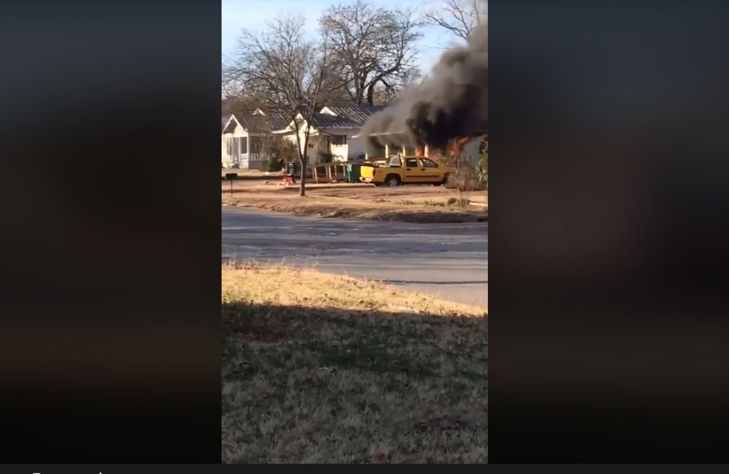 Two Texas police officers rescue disabled man, two others from burning home. (Courtesy Wendy Mace)<p></p>