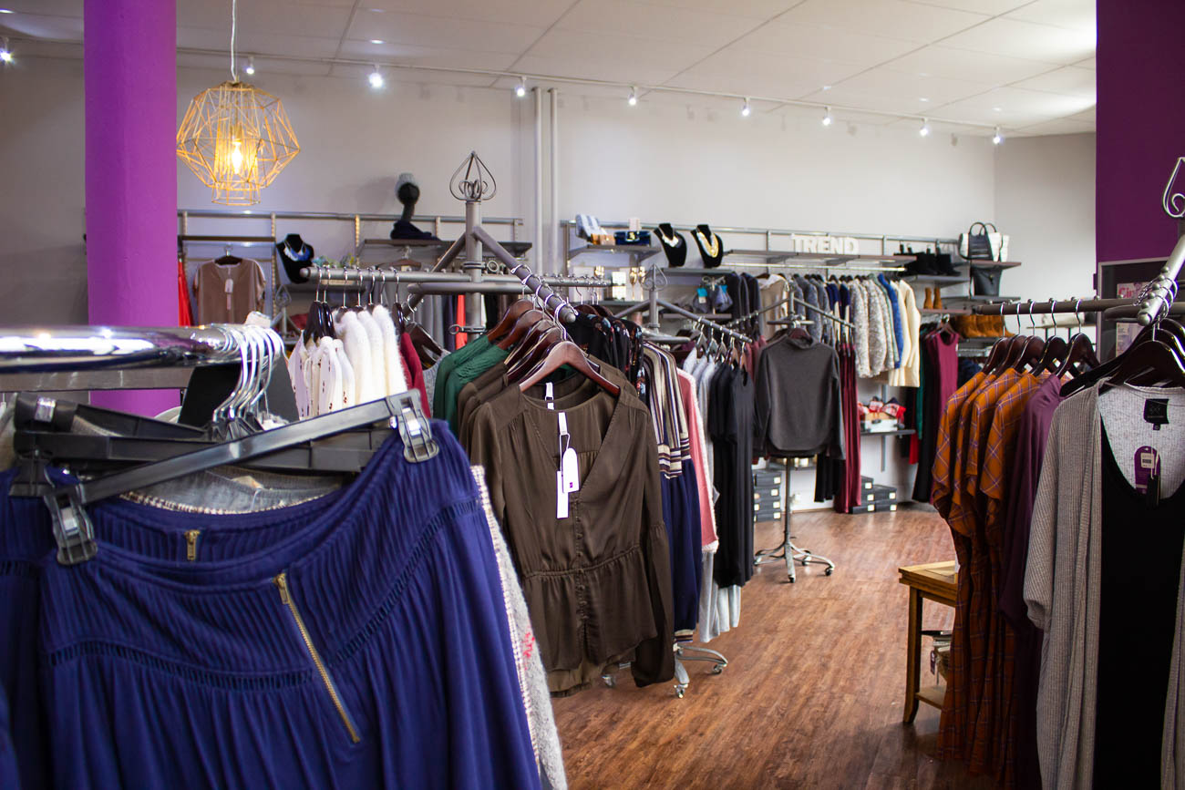 The violet-walled store is filled with racks of clothes waiting to be tried on and purchased. Most of the pieces are bought from fashion markets in Chicago and New York. Stephanie says if she sees a piece in a department store, she won't carry it in Trend. She also stocks only a few of each item to ensure the lucky shopper who buys it is aware of its exclusivity. ADDRESS: 2946 Markbreit Avenue (45209) / Image: Katie Robinson, Cincinnati Refined // Published: 1.10.19