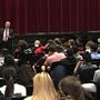 Attorney General Doug Peterson gives high school students advice on real world issues