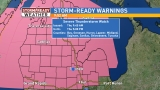 Severe Thunderstorm Watch issued for Mid-Michigan