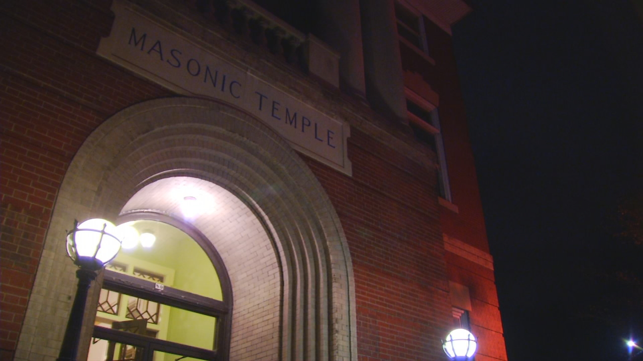 News 13 went with a local group underneath one of Asheville's oldest buildings -- the Masonic Temple. (Photo credit: WLOS Staff)