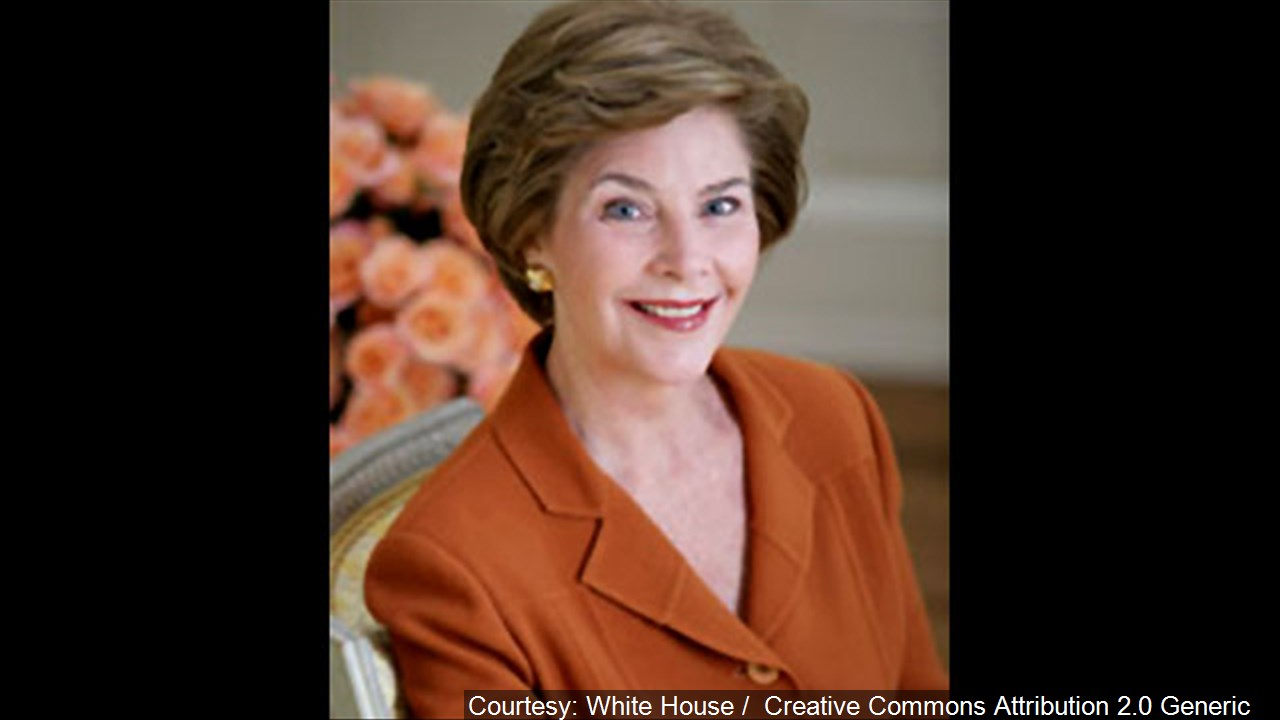 Former First Lady Laura Bush. (Courtesy: White House / Creative Commons Attribution 2.0 Generic)