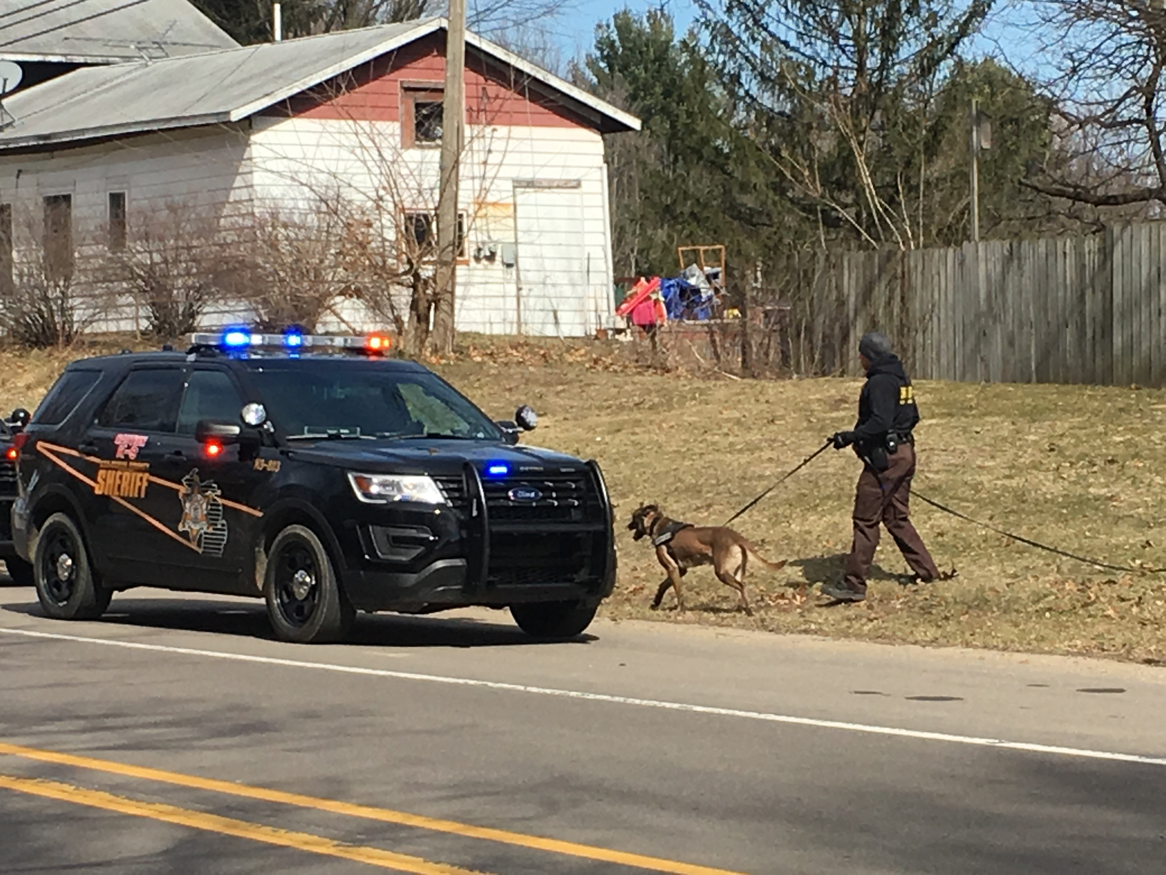 Manhunt underway in Paw Paw, following a police chase out of Indiana.{ } (WWMT/Jake Berent)