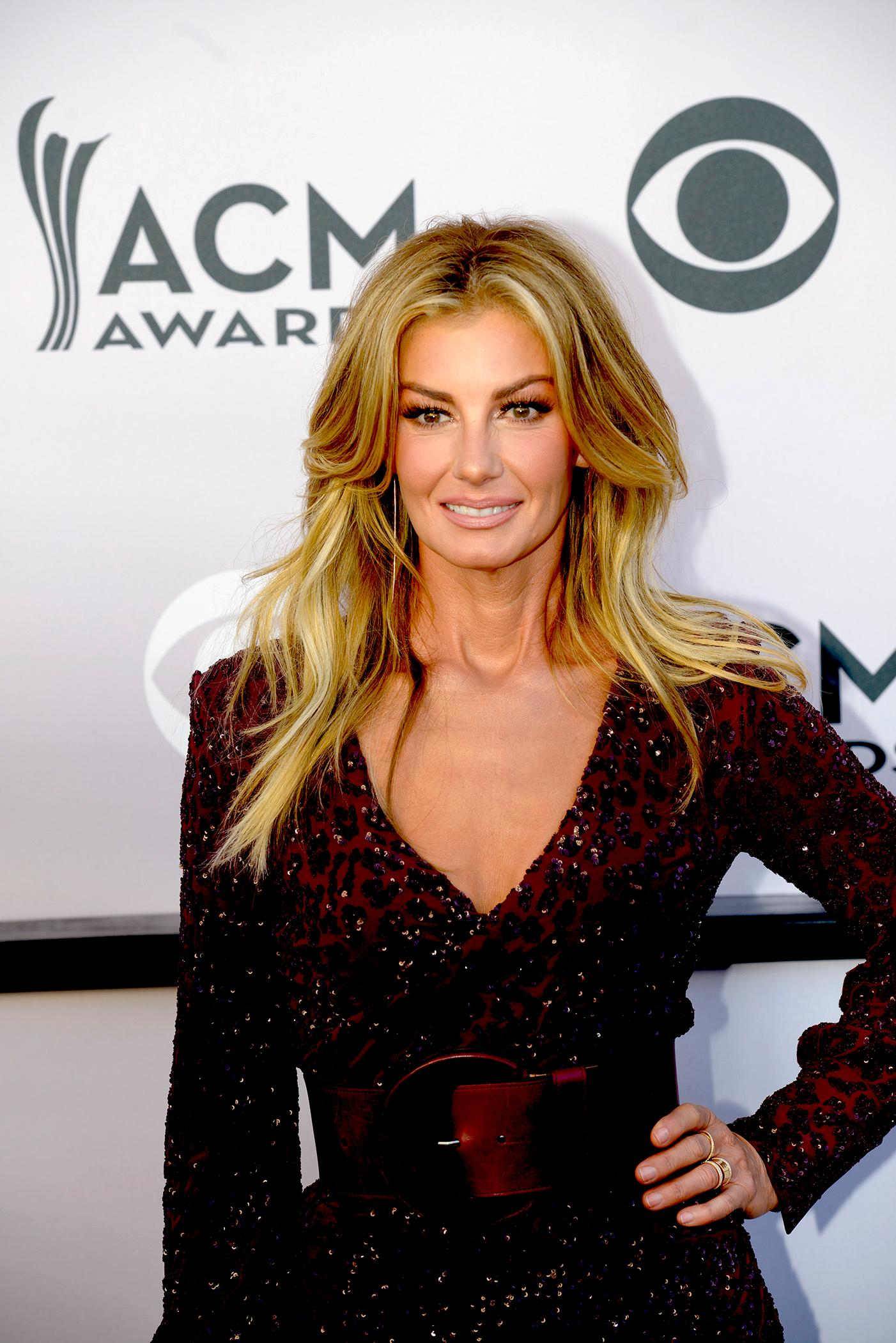 Faith Hill on the Academy of Country Music Awards red carpet at T-Mobile Arena. Sunday, April 2, 2017. (Glenn Pinkerton/ Las Vegas News Bureau)