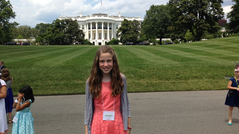 Sarah Ganser, from Appleton, visited the White House for the Kids' Luncheon on Friday, July 18, 2014.