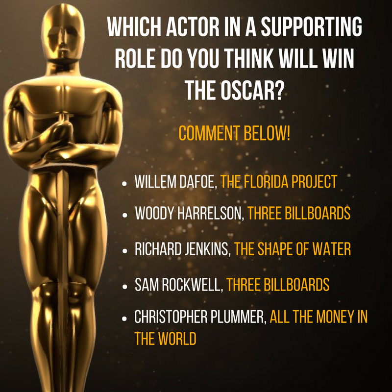 Watch the Academy Awards Sunday, March 4, 2018 on ABC7.