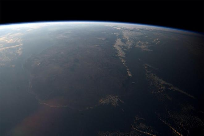 Hazy sunset over Madagascar (Photo & Caption courtesy Reid Wiseman (@Astro_Reid) and NASA)