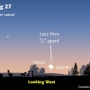 See the conjunction of Venus and Jupiter on Saturday