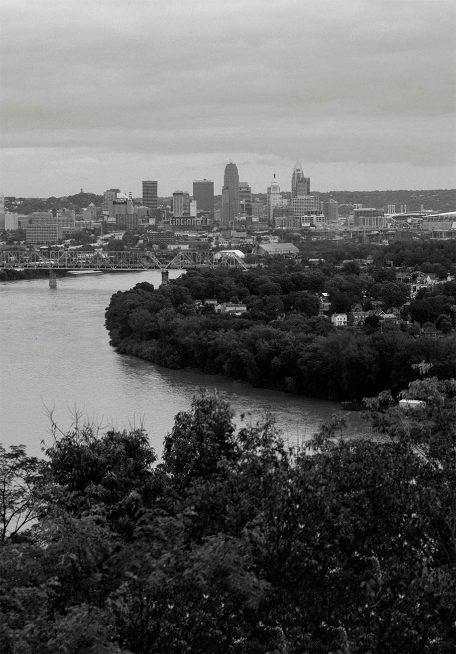 Closeup detail of a panoramic photo of Cincinnati looking east from Mt. Echo by Chris Glass from 2018. View the whole image by going to the Public Library downtown and seeing the Panorama of Progress exhibit. The exhibit runs until October 31. ADDRESS: 800 Vine Street (45202) / Image courtesy of the Public Library of Cincinnati // Published: 10.4.18