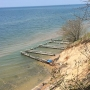 Michigan beach disappearing with rising lake levels and high winds