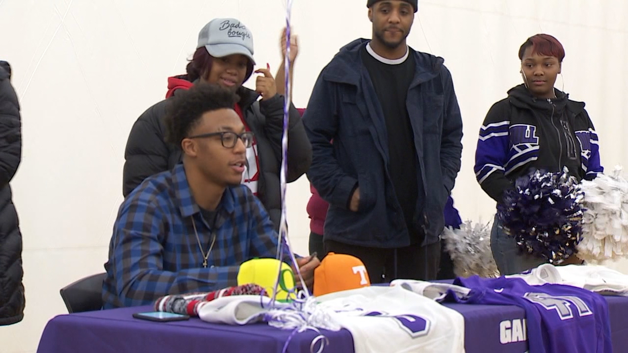 Garfield High School senior Tre'Shaun Harrison signed to play football at Florida State University on Wednesday. (KOMO News)