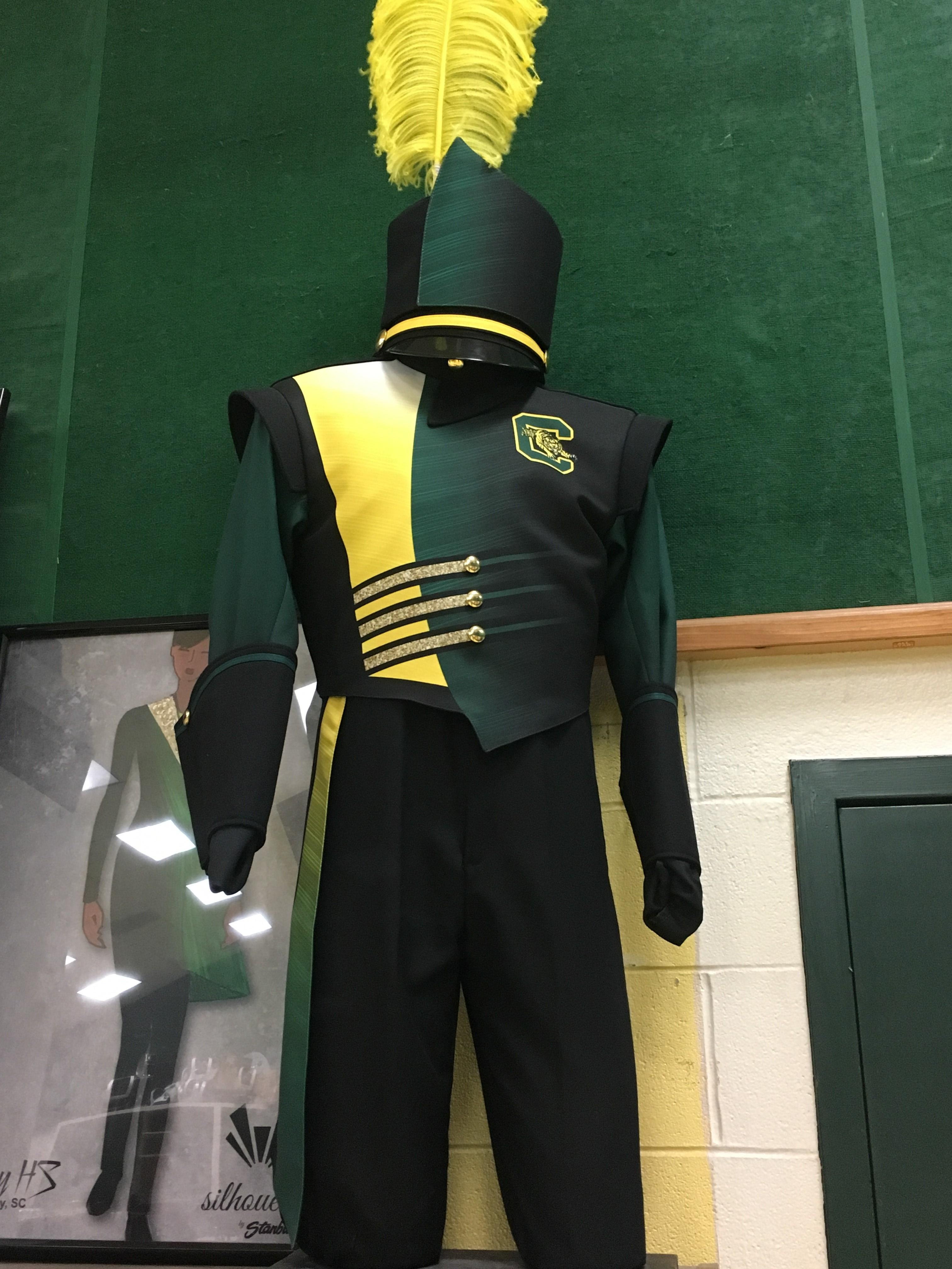 Conway High School band members are hoping to raise enough money to buy new band uniforms.  This design is lighter, washable and should students better than the old wool uniforms. (Amanda Kinseth/WPDE)