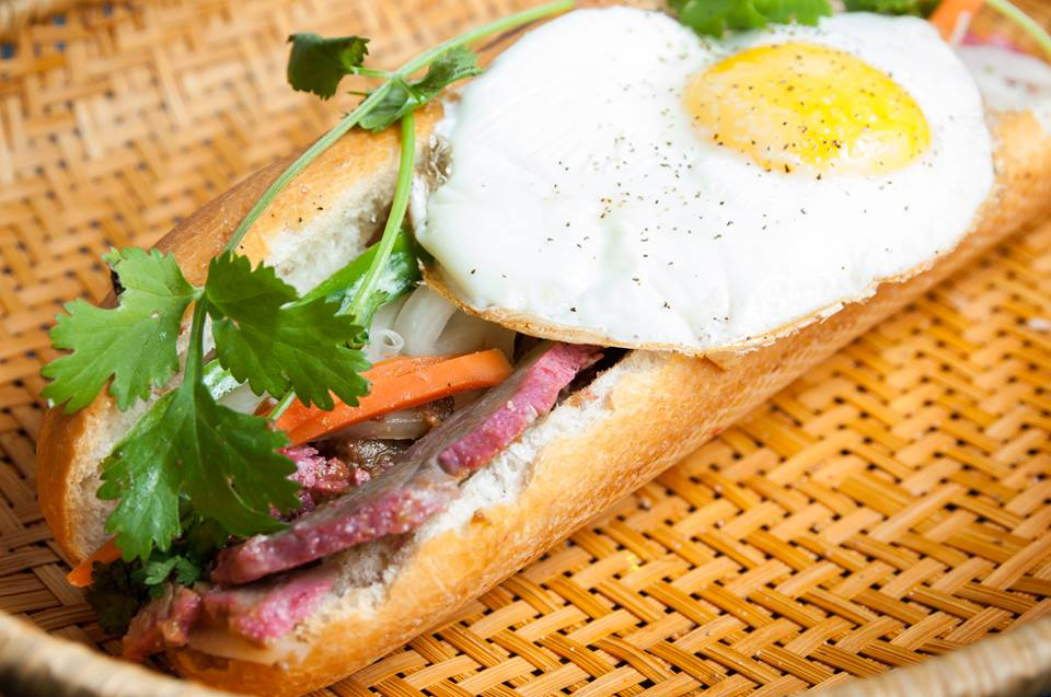 This simple, unassuming family run spot in Georgetown has killer banh mi sandwiches! The lemongrass pork is a favorite but you can also get chicken, BBQ pork, beef, or tofu. The meats are flavorful, they don't skimp on the toppings, and the bread has the right amount of chew. (Image: Courtesy Simply Banh Mi)