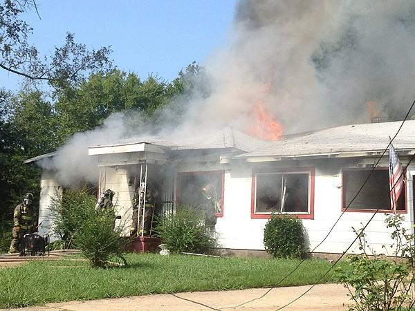 Lincoln Ave house fire 8-8-12