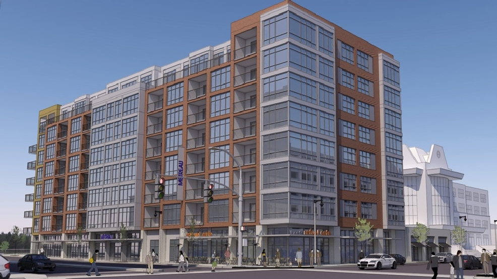 Rendering of Metreau Apartments in downtown Green Bay
