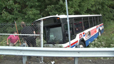Bus on regular route crashes into ditch