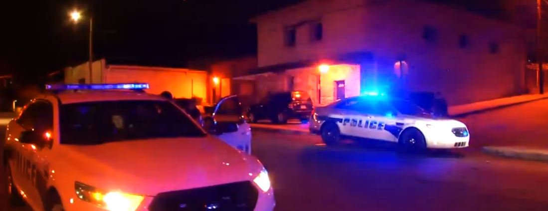 Asheville police were called to Lee Walker Heights shortly after 10 p.m. Wednesday to investigate a report of a gunshot wound. (Photo credit: WLOS staff)
