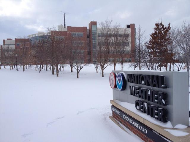 A snowy morning at National Weather Service