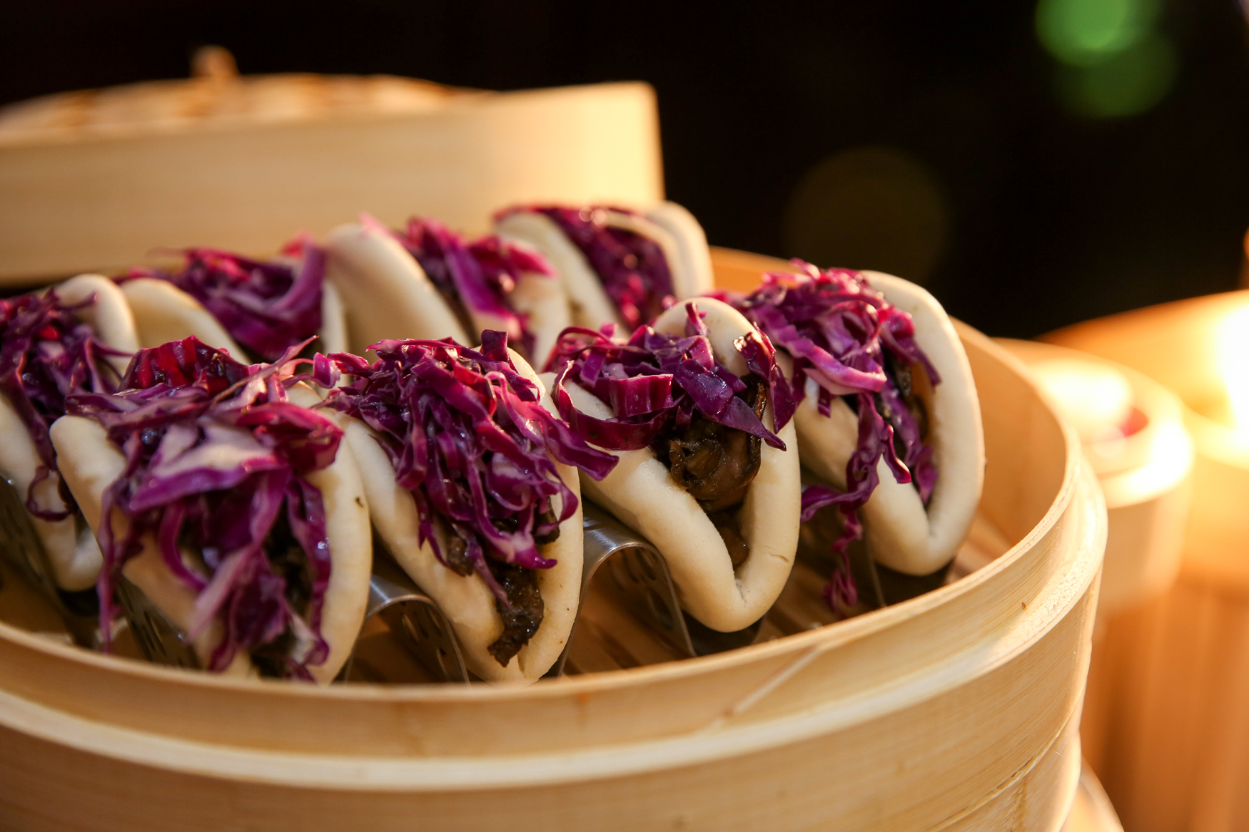 Bao Bao is another concept from the dining team at Nats Park and it features a variety of bao offerings, including vegetarian options. (Amanda Andrade-Rhoades/DC Refined){ }