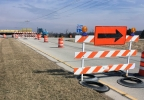 Lanes are closed in the area of Interstate 43 in Brown County, March 20, 2017.