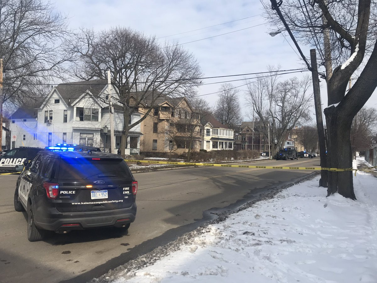 Homicide suspect arrested after hour-long standoff, schools locked down. (WWMT/Andrew Feather)