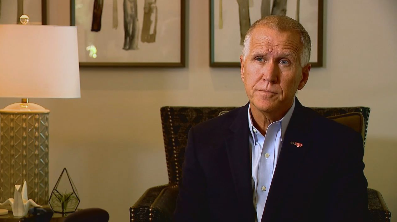 FILE -{ }North Carolina Sen. Thom Tillis (Photo credit: WLOS staff)