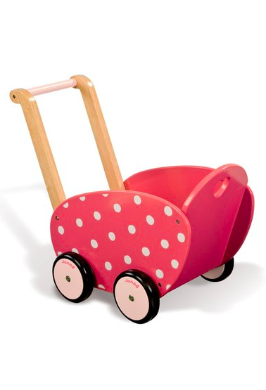 Janod Framboisine Doll Carriage ($79.99). Find on nordstrom.com. (Image courtesy of Nordstrom)