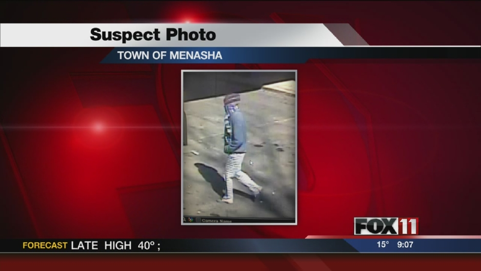Town of Menasha Police search for robbery suspect