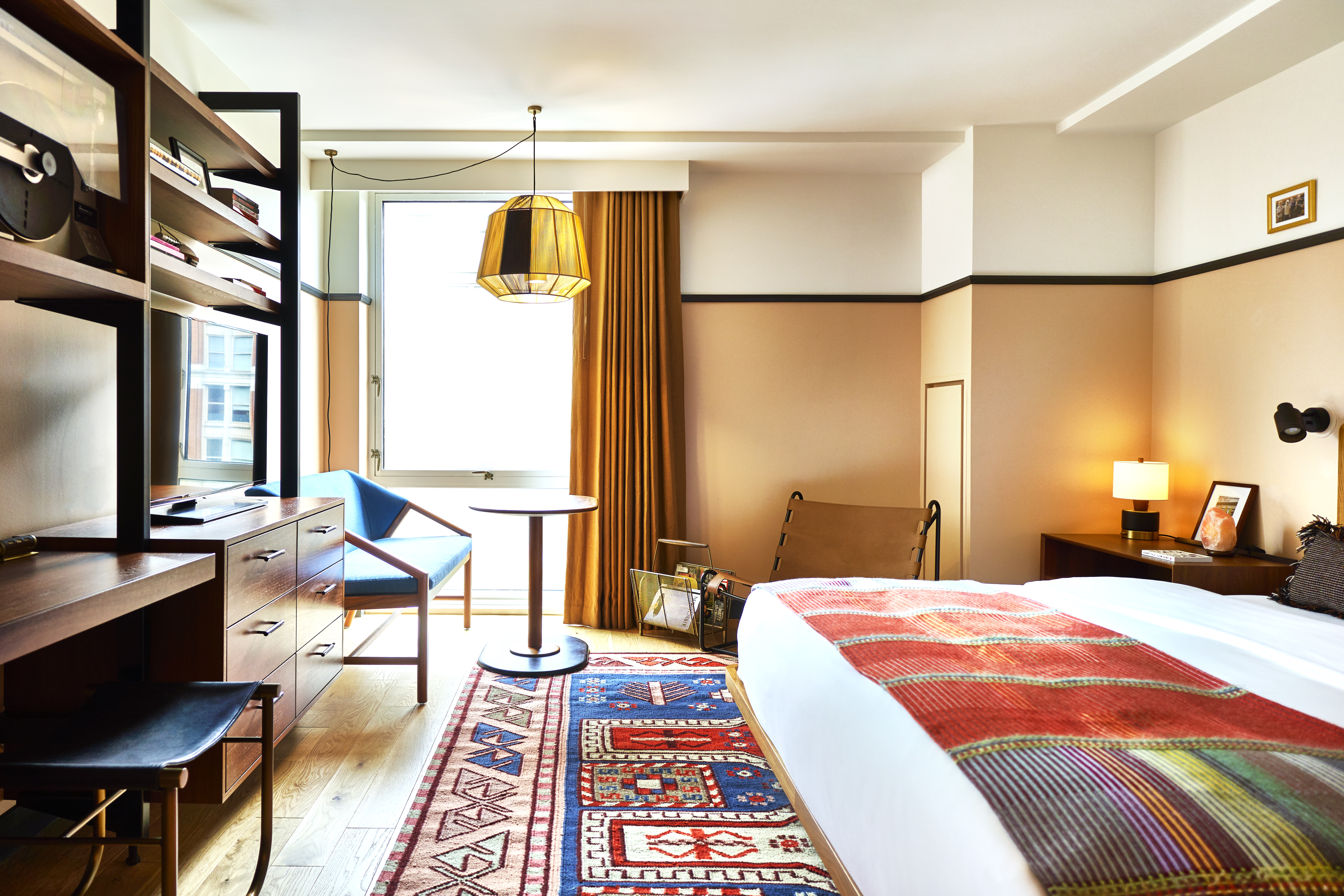 Eaton DC's guest rooms feature a boho-chic design that complements its eco-friendly sensibilities. (Image: Adrian Gaut)