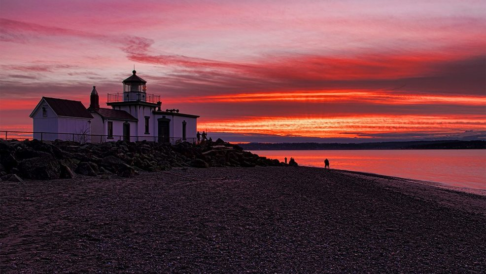 Photos: Incredible winter weekend sunset around  Seattle