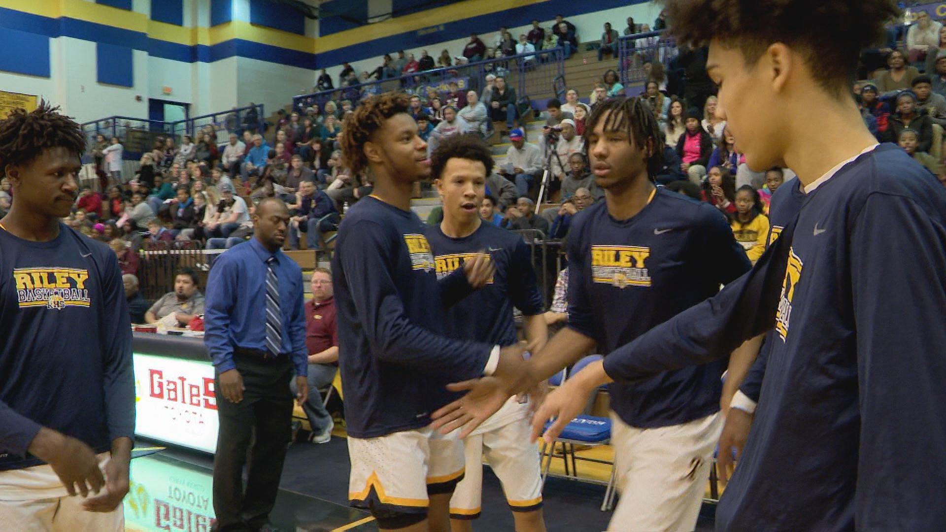 South Bend Riley's Damezi Anderson became the all-time leading scorer in school history by hitting the 1,500 point mark // WSBT 22 Photo<p></p>