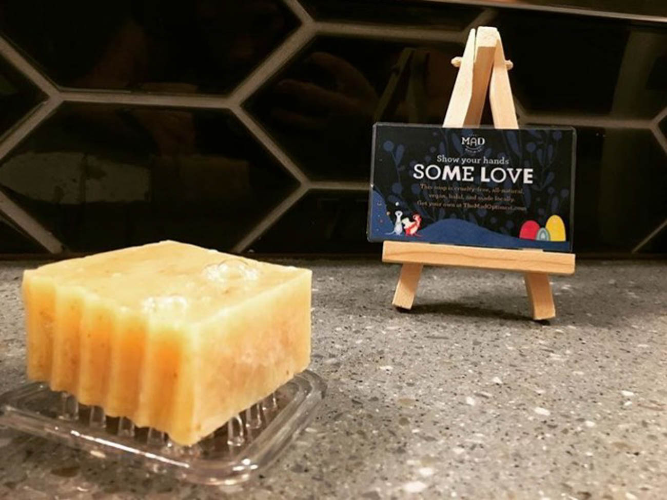 Mad Optimist's soap is safe to use right after it's made rather than taking 30-60 days to cure like other natural soaps. / Image courtesy of The Mad Optimist // Published: 4.18.20