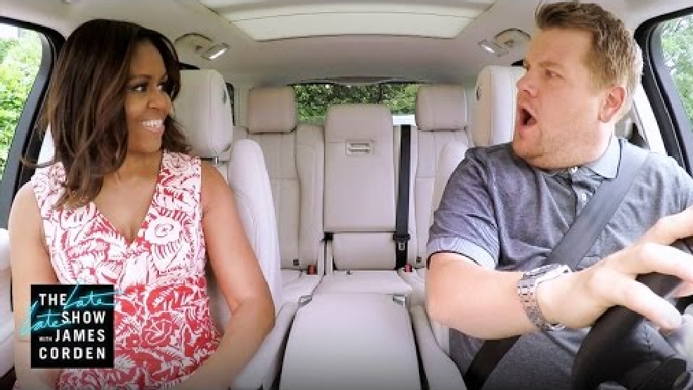 First lady's 'Carpool Karaoke' video airing Wednesday