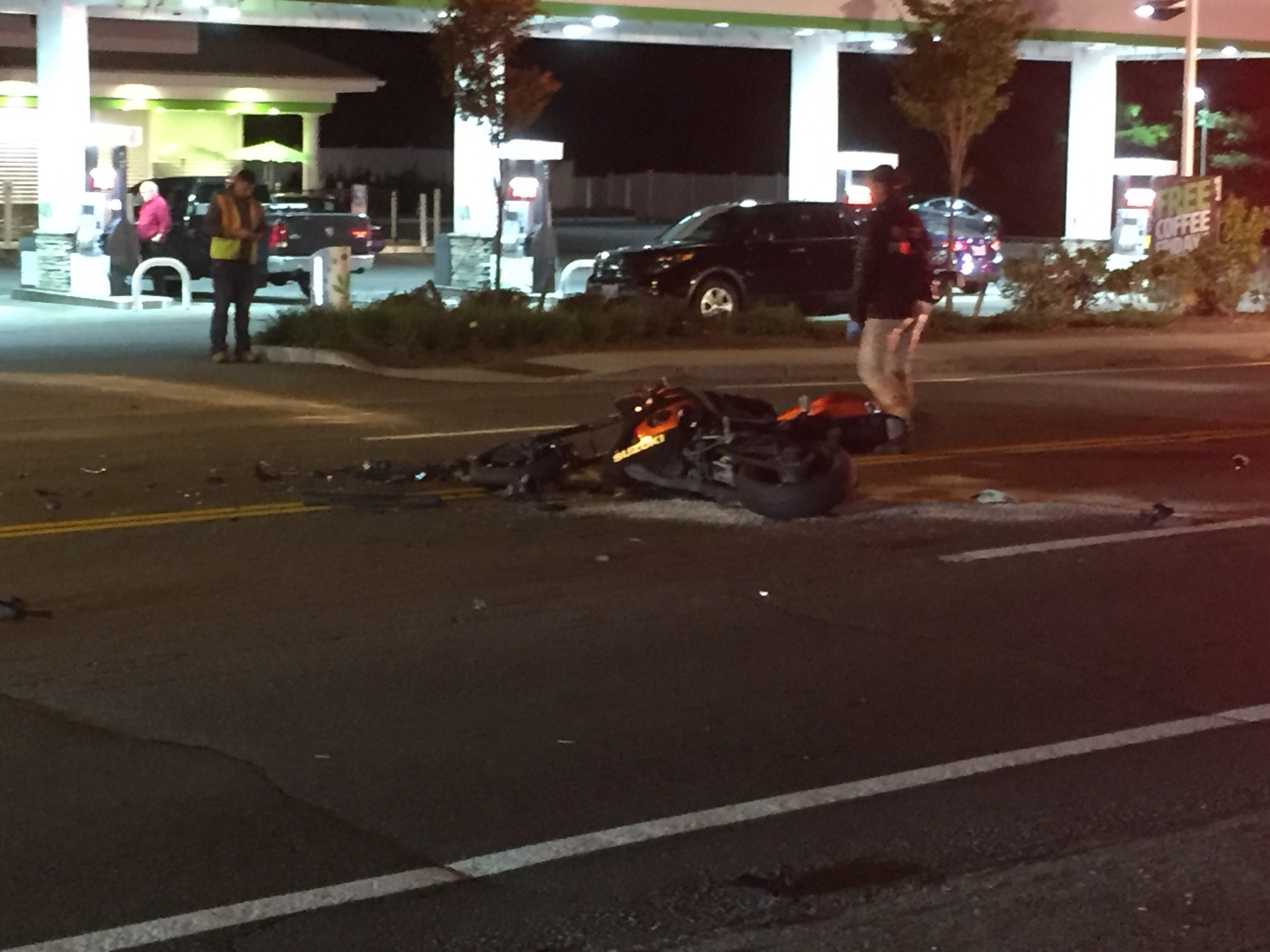 A man was killed in a Johnston motorcycle crash Friday, Oct. 20, 2017. (WJAR)